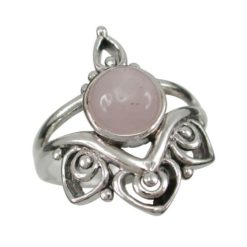 Sterling Silver 22mm Moonstone Bohemian Style Ring (mixed Sizes)