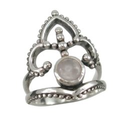 Sterling Silver 23mm Moonstone Bohemian Style Ring