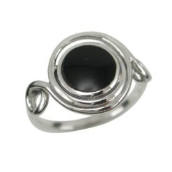 Sterling Silver13mm Black Onyx Twisted Wire Ring (mixed Sizes)