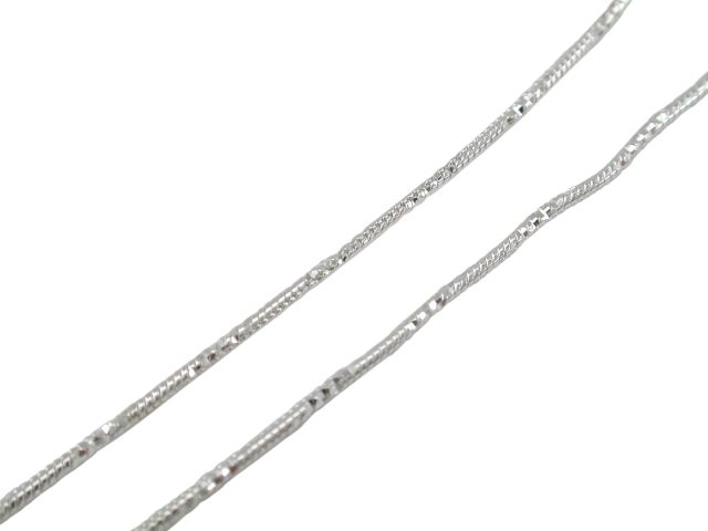 Sterling Silver 1mm Diamond Cut Snake Chain