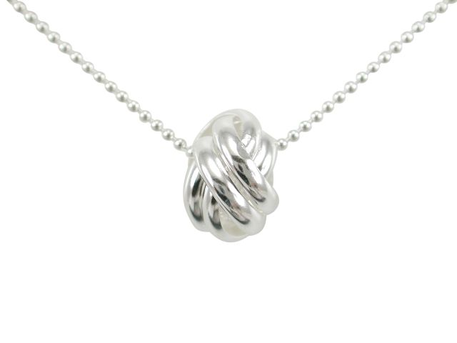 Sterling Silver 12mm Interlocked Love Circles Necklet 40cm