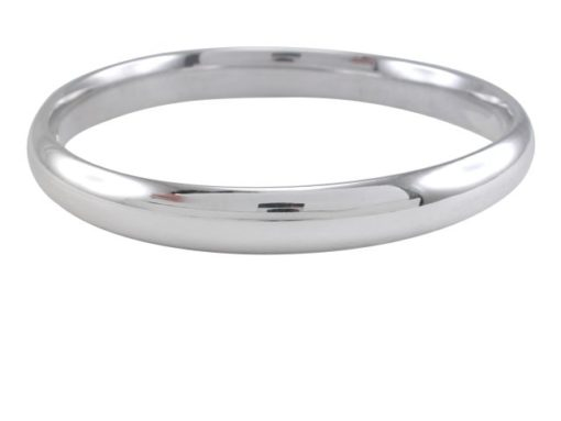 Sterling Silver 8mm Hollow Comfort Fit Golf Bangle 68mm