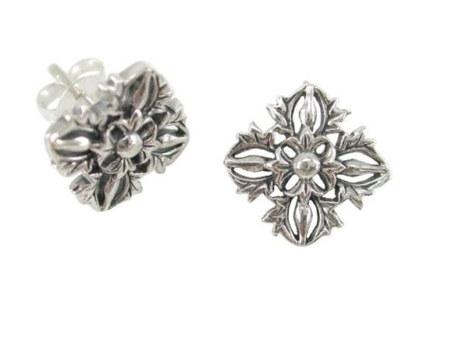 Sterling Silver 12x10mm Square Stud Earrings