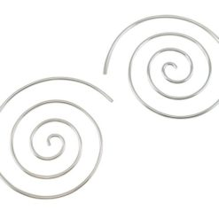 Sterling Silver 32mm Spiral Hoop Earrings