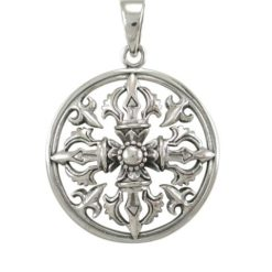 Sterling Silver 27mm Filigree Pendant