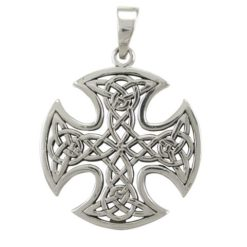 Sterling Silver 28mm Celtic Cross Pendant