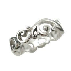Sterling Silver 6mm Ornate Scroll Ring