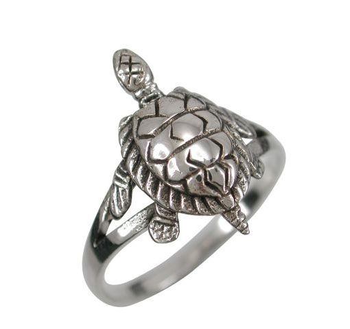 Sterling Silver 16mm Turtle Ring