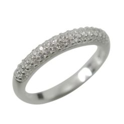Sterling Silver 3mm White Cubic Zirconia Ring