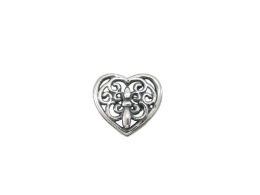 Sterling Silver Filigree Heart Butterfly Memories Charm