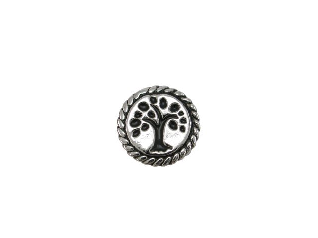 Sterling Silver Rope Edge Tree Of Life Butterfly Memories Charm