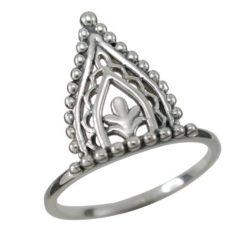 Sterling Silver 16mm Bohemian Style Lotus Petal Ring