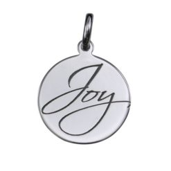 Sterling Silver 16mm *joy* Pendant