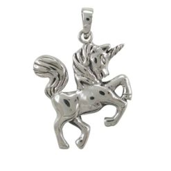 Sterling Silver 25x22mm Unicorn Pendant