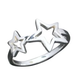Sterling Silver 10mm Star Ring