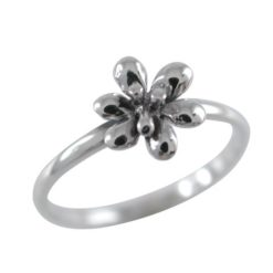 Sterling Silver 8mm Flower Ring