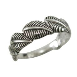 Sterling Silver 6mm Leaf Ring