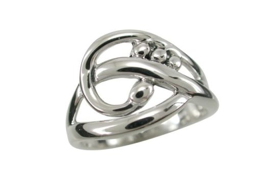 Sterling Silver 12mm Bohemian Style Ring