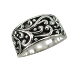 Sterling Silver 10mm Scrolls Ring