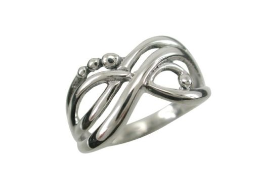 Sterling Silver 10mm Bohemian Style Ring
