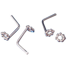 Sterling Silver 3mm Nose Stud Bent (each)