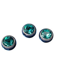 Surgical Steel Jewelled Loose Ball 1.6x5 Green (each)