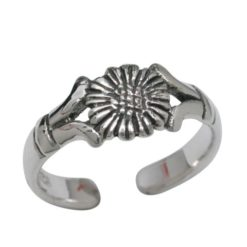 Sterling Silver 6mm Flower Toe Ring
