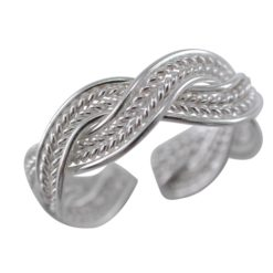Sterling Silver 5mm Plaited Toe Ring