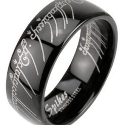 Stainless Steel 6mm Black Ip *lord* Ring
