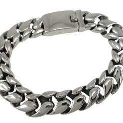 Stainless Steel 13mm Rounded Fancy Link Bracelet