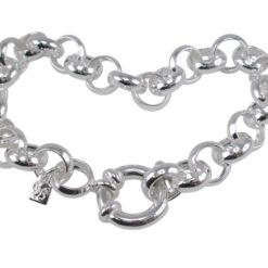 Sterling Silver 10mm Belcher Chain With Eurobolt Clasp Bracelet