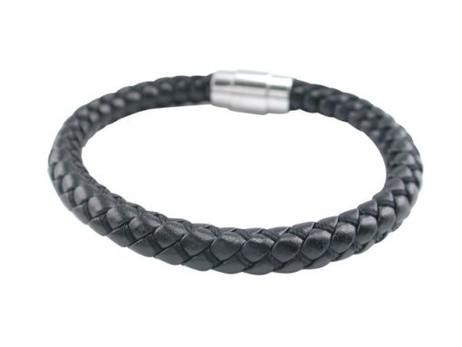Stainless Steel 8mm Leather Bracelet
