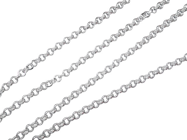 Sterling Silver 1.6mm Belcher Chain 38cm
