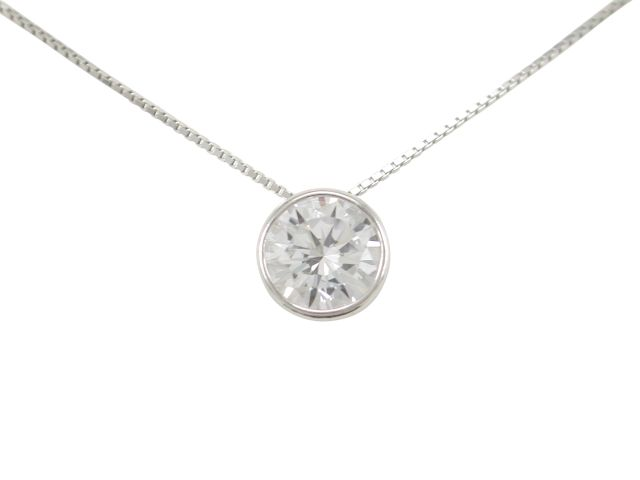 Sterling Silver 8mm White Cubic Zirconia Necklet 45cm