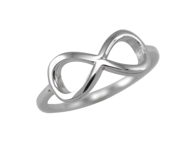 Sterling Silver 7mm Infinity Ring