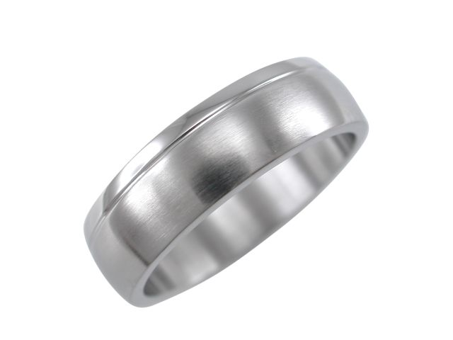 Stainless Steel 6mm Satin Finish Ring